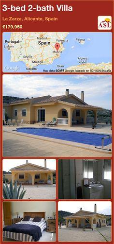 3-bed 2-bath Villa in La Zarza, Alicante, Spain ►€179,950 #PropertyForSaleInSpain