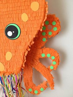Octopus Pinata. Large Orange Octopus Pinata by AbitaAchie on Etsy, $58.00