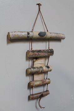White Birch Bark Wall Hanging Rustic Decor by WildWoodBarkArt