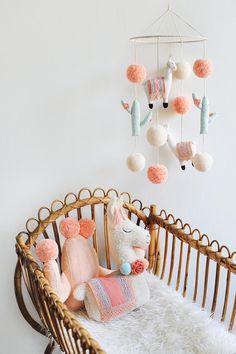 Llama Soft Toy, Llama Toy, Llama Nursery, Llama Nursery Decor, Boho Baby Room De… – Baby Pillow Name Teen Room Decor, Baby Nursery Decor, Baby Bedroom, Nursery Room, Girl Nursery, Boho Nursery, Nursery Themes, Baby Dekor, Diy Décoration
