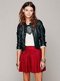 Chenille Cheetah Skirt - cranberry