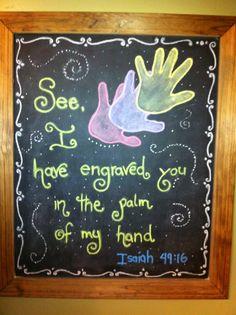 Bible verse  Isaiah 49:16