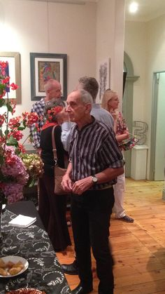 Andrew Verster at Artisan Gallery Exhibition opening 'Colouring in Competition' using prints of his work. email: info@artisan.co.za, Ph: 031 312 4364 Exhibitions, Colouring, Competition, Artisan, Couple Photos, Couples, Gallery, Prints, Color