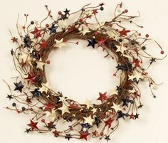 Americana Fourth of July Pip Berry Stem with Metal Stars   Shelley ...