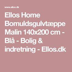 Ellos Home Bomuldsgulvtæppe Malin 140x200 cm - Blå - Bolig & indretning - Ellos.dk