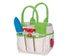 Cute Kids Garden Tools and Tote Bag. Perfect for the little helper.