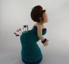 PIN amortiguador Lady: aguja fieltro escultura