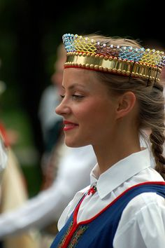 Latvian folk dancer