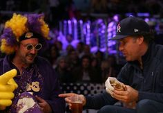 Will Ferrell and David Arquette cheer on the Lakers
