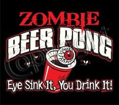 adult zombie party | Details about ZOMBIE BEER PONG Party Halloween Adult Humor Costume ...