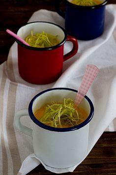 Yerbabuena en la cocina: Crema de calabaza al aroma de naranja y jengibre.