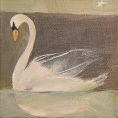 """""""Transparent Contentment"""" 6""""x6"""" original acrylic by  Pami M Ciliax-Guthrie  www.artgratitude.com"""
