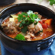 Albondigas soup is a traditional Mexican meatball soup its hearty flavorful a Authentic Mexican Recipes, Mexican Soup Recipes, Mexican Dishes, Healthy Dinner Recipes, Cooking Recipes, Albondigas Soup Recipe Mexican, Mexican Meatball Soup, Mexican Meatballs, Soup And Salad