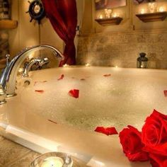 Want to make your significant other feel soooo special? Draw a beautiful bath with essential oil drops in the water and Epsom salts. Light candles around the bathroom. Sprinkle bath petals. Set out some chocolate covered strawberries.  #like #relax #postoperation #ValerieJTaylor #TheTayloredLife