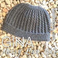 Haute Kippy: Gina Messy Bun Hat free crochet pattern