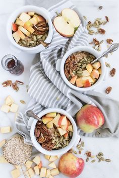 Slow cooker apple cinnamon steel cut oats is an easy, delicious, and healthy fall breakfast. It cooks while you sleep to give you a slow and easy morning. Fall Breakfast, Breakfast Time, Oats Recipes, Clean Recipes, Dessert Recipes, Photo Pour Instagram, Diy Halloween Food, Slow Cooker Apples, Steel Cut Oats