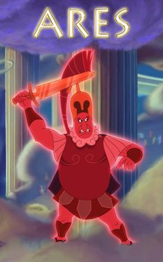 Ares was the Greek god of war. He is one of the Twelve Olympians, and the son of Zeus and Hera. In Greek literature, he often represents the physical or. Disney Pixar, Disney Fun, Disney Movies, Disney Magic, Zeus And Hera, Son Of Zeus, Meg Hercules, Greek Gods And Goddesses, Greek Mythology