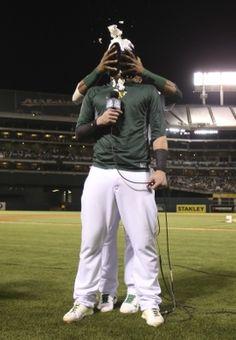 Oakland Athletics Yoenis Cespedes, Josh Donaldson