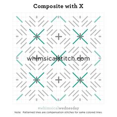 Composite with X from July 11, 2018 whimsicalstitch.com/whimsicalwednesdays blog post.