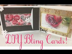 DIY Bling Inexpensive Valentines, Wedding, Birthday Cards