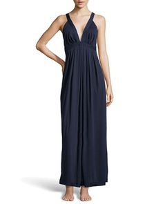 Pima Cotton Long Nightgown, Ink by Donna Karan at Neiman Marcus.