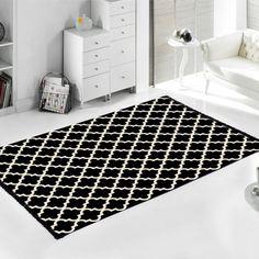 Černo-bílý oboustranný koberec Madalyon, 120x180cm | Bonami Bath Mat, Kids Rugs, Bedroom, Grey, Black, Home Decor, Room, Ash, Homemade Home Decor