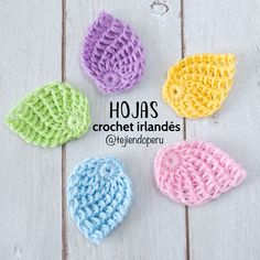 Tunisian Crochet Lindas hojitas tejidas en crochet irlandés paso a paso. Crochet Leaf Patterns, Crochet Cat Pattern, Granny Square Crochet Pattern, Tunisian Crochet, Crochet Motif, Diy Crochet, Crochet Stitches, Flower Patterns, Irish Crochet