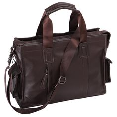 Men's Shoulder PU Leather Laptop Briefcase Business Office Bag >>> Review more details here : Valentine Gifts