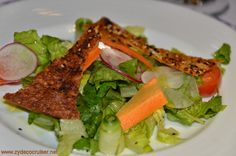 Carnival Conquest, Fun Day at Sea 3, MDR Dinner, Arugula, Mint, and Vegetable Salad,