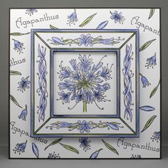 Agapanthus stamps by Jayne Nestorenko. Clarity Card, Barbara Gray, Diy And Crafts, Paper Crafts, Parchment Cards, Agapanthus, Cool Cards, Handmade Cards, Paper Flowers