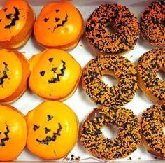 "Pumpkin Donuts donuts saying ""Happy Halloween Halloween Inspo, Halloween Season, Holidays Halloween, Spooky Halloween, Happy Halloween, Halloween Party, Spooky Scary, Halloween Baking, Halloween 2013"