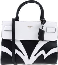 $219, GUESS Handbags, medium, faux leather, logo, two-tone pattern, magnetic closure, internal pockets, double handle, removable shoulder strap... #bags #handbags shoulderbags #bolsos #style #guess #affiliate #shopstyle #womensfashion #mystyle