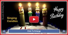 Singing Candles Happy Birthday Song Video For You Free Happy Birthday Song, Free Singing Birthday Cards, Birthday Songs Video, Happy Birthday Gif Images, Birthday Wishes Songs, Happy Birthday Wishes For Her, Happpy Birthday, Happy Birthday Candles, Funny Birthday Cards