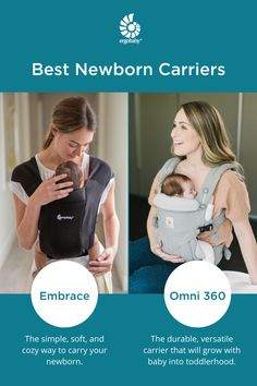 Our Embrace carriers are perfect for your newborn they are soft and allows you to be close to your baby without the difficulty of a wrap. Shop now at Ergobaby! Future Mom, Future House, Baby Gadgets, Dream Baby, Baby Education, Baby Registry, Baby Crafts, Cool Baby Stuff, Mom And Baby
