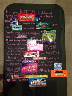 DIY and crafts Candy bar posters. Candy Bar Poster Ideas with Clever Sayings. Birthday Message For Father, Birthday Presents For Mom, Father Birthday, Birthday Candy, 50th Birthday Gifts, Friend Birthday, Funny Birthday, Birthday Nails, Birthday Bash