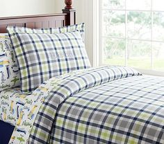 Plaid Duvet Cover traditional-kids-bedding