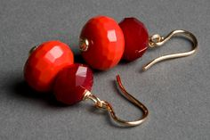 Maroon and orange earrings you can wear anytime to show SU spirit!  $32.00, via Etsy.