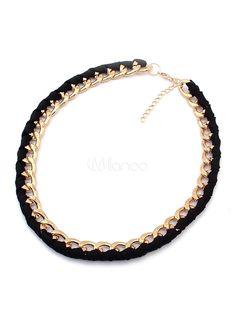 [€5,27] Chain Design Lobster Claw Clasp Bronze Women's Fashion Necklace