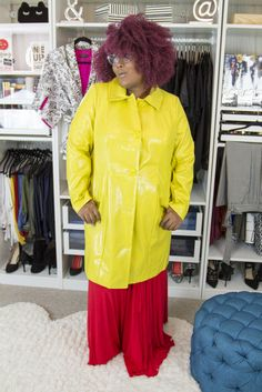 This plus size Yellow Snakeskin coat? LOVE!  New Video! Closet Confessions: 5 New Items for Fall! http://thecurvyfashionista.com/2016/10/new-plus-size-fashion-for-fall/