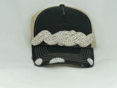 Black bling trucker hat by Timetwochange on Etsy, $60.00
