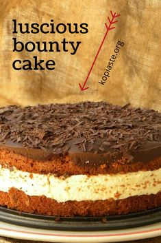 With chocolate bars and coconut cream, this bounty cake recipe is luscious and delicious and your family will be sure to devour it. Dark Chocolate Truffles, Chocolate Shavings, Chocolate Bars, Chocolate Recipes, Baking Chocolate, Cake Recipes, Dessert Recipes, Types Of Desserts, Baking Tins