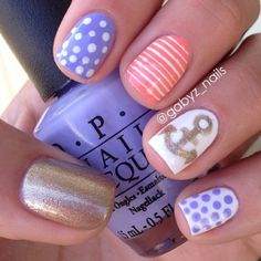 .@Erin Duncan Ritchey | Credit @gabyz_nails  Clean and cute nautical nail art by @gabyz_nails  . . If... | Webstagram