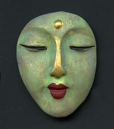 Polymer+OOAK+Buddha+Face++Cab++Abstract+BFC+4+by+linsart+on+Etsy,+$7.25