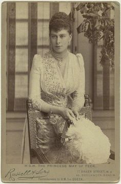Queen Mary when Princess May of Teck, c. 1891.