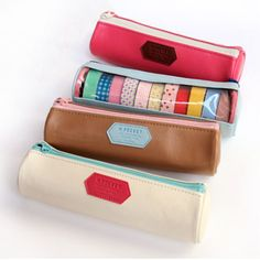 "This ""M Pocket Case"" holds 11 rolls of washi tape! Great washi tape storage."