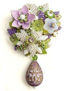 パープルのお花のブローチ STANLEY HAGLER(スタンレーハグラー)