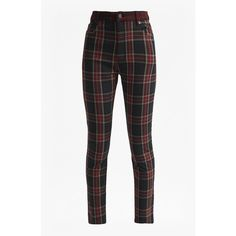 Tillie Tartan High Rise Denim Skinny Jeans ❤ liked on Polyvore featuring jeans, pants, denim skinny jeans, high-waisted skinny jeans, white denim jeans, white jeans and white skinny jeans