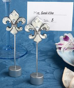 Elegant Fleur de Lis place card/photo holders