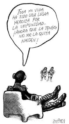 Caricatura de Zapata en la página de Opinión. Caracas, 03-05-2004. (PEDRO LEON ZAPATA / EL NACIONAL)