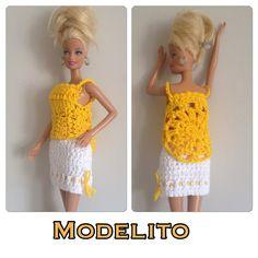 Vestido croche Barbie